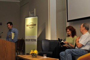 """I was nervous before interviewing John at the 2012 Southern Writing Conference but tried to play it cool. John knew, of course, without me saying anything. So when the speaker before us handed out samples of bourbon, he just leaned over and whispered: """"This'll help."""""""